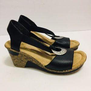 Rieker  Wedge Heel Shoe. Size 7